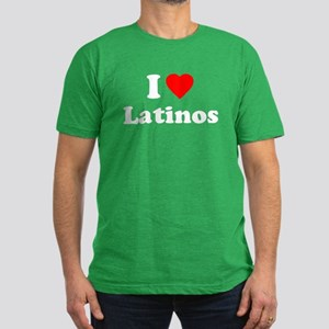 I Love [Heart] Latinos Men's Fitted T-Shirt (dark)